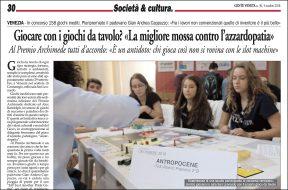 Gente Veneta – 5 ottobre 2018