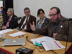 Con Furio Honsell, Filippo Fossati e Raffaella Basana a Play. Modena, 2015